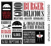 vintage burger menu  | Shutterstock .eps vector #295560350