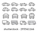 car line icons | Shutterstock .eps vector #295561166