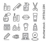 cosmetics line icons | Shutterstock .eps vector #295561184
