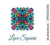 vintage ornamental square logo. ... | Shutterstock .eps vector #295564250