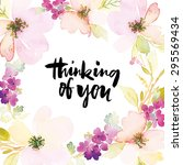 watercolor greeting card... | Shutterstock .eps vector #295569434