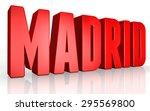 3d madrid text on white... | Shutterstock . vector #295569800