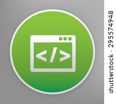 coding design icon on green... | Shutterstock .eps vector #295574948