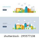 flat design modern vector... | Shutterstock .eps vector #295577138