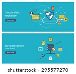 set of flat design vector... | Shutterstock .eps vector #295577270