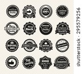 vintage guaranteed quality best ... | Shutterstock .eps vector #295579256