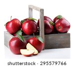 Red Apples In Wooden Crate...