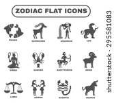 zodiac and horoscope symbols... | Shutterstock .eps vector #295581083