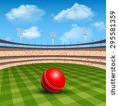 open stadium of cricket with... | Shutterstock .eps vector #295581359