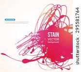 splatter paint banner. vector... | Shutterstock .eps vector #295581764