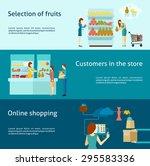 buyer horizontal banner set... | Shutterstock .eps vector #295583336