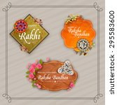 beautiful creative rakhi and... | Shutterstock .eps vector #295583600