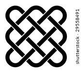 vector endless celtic knot | Shutterstock .eps vector #29558491