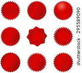 red seals   set of 9 different... | Shutterstock .eps vector #295589090