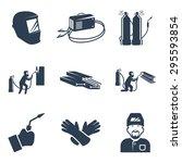vector welding related icon set | Shutterstock .eps vector #295593854