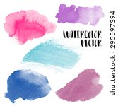 hand painted watercolor wash... | Shutterstock .eps vector #295597394