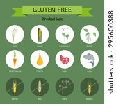 icons foods containing gluten. | Shutterstock .eps vector #295600388