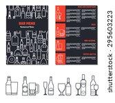 vector illustration of drinks... | Shutterstock .eps vector #295603223
