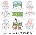 golf badges and labels for any... | Shutterstock .eps vector #295604324