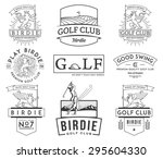 golf badges and labels for any... | Shutterstock .eps vector #295604330