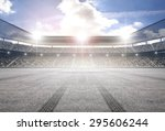 tire track stadium   Shutterstock . vector #295606244