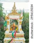 Small photo of Hindu god the ganesh statue in Thailand