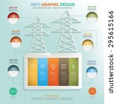 electricity and industry info...   Shutterstock .eps vector #295615166