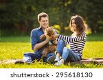 lifestyle  happy family of two... | Shutterstock . vector #295618130