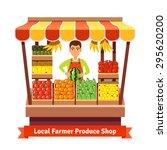 local farmer produce shop... | Shutterstock .eps vector #295620200