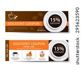 coffee coupon discount template ... | Shutterstock .eps vector #295623590