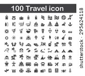 100 travel icon | Shutterstock .eps vector #295624118