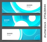 website banner or header set.... | Shutterstock .eps vector #295628444