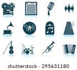 set of musical icons. eps 10... | Shutterstock .eps vector #295631180