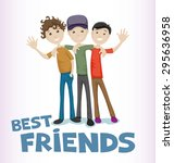 vector illustration. friends... | Shutterstock .eps vector #295636958