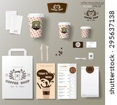 coffee shop corporate branding... | Shutterstock .eps vector #295637138