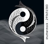 yin yang symbol of harmony and... | Shutterstock .eps vector #295651583