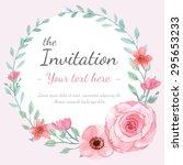 flower wedding invitation card  ... | Shutterstock .eps vector #295653233