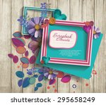 photo frames   scrapbook... | Shutterstock .eps vector #295658249