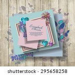 photo frames   scrapbook... | Shutterstock .eps vector #295658258