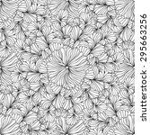 monochrome seamless pattern... | Shutterstock .eps vector #295663256