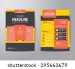corporate brochure flyer design ... | Shutterstock .eps vector #295663679