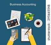 business accounting concept. | Shutterstock .eps vector #295665548
