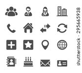 contact icon set  vector eps10. | Shutterstock .eps vector #295665938