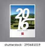 number 2016 typography design... | Shutterstock .eps vector #295681019