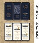 vintage restaurant menu design... | Shutterstock .eps vector #295681034