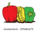 paprika color | Shutterstock .eps vector #295681673