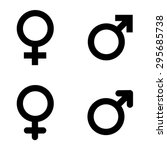 male and female symbols .... | Shutterstock .eps vector #295685738