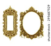 old decorative frame   handmade ... | Shutterstock . vector #295687529