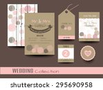 set of wedding cards.save the... | Shutterstock .eps vector #295690958