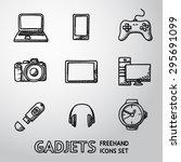 set of handdrawn gadget icons...   Shutterstock .eps vector #295691099